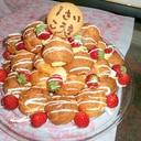 シュータワーの誕生日ケーキ☆豆乳クリームin