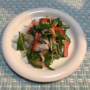 あえるだけ!簡単 水菜とカニカマのサラダ