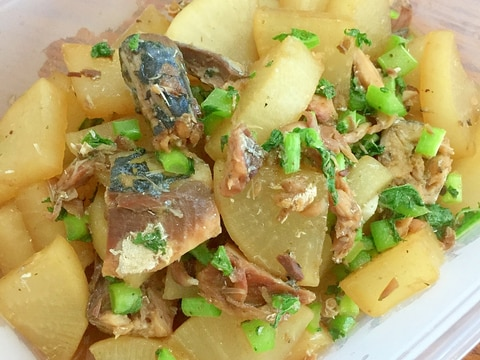 大根と鯖缶の煮物