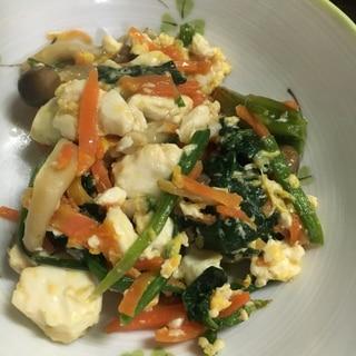 芯まで美味しい☆ほうれん草の炒り豆腐