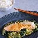 鮭と白菜のピリ辛味噌蒸し