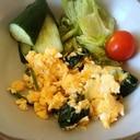 朝食に!ほうれん草と卵のチーズ炒め♡