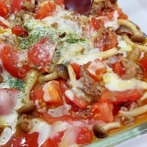 子供が大好き(^^)合挽き肉とトマトのグラタン♪