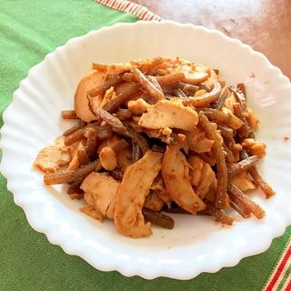 お弁当にも☆焼き豚&蒟蒻☆赤味噌炒め