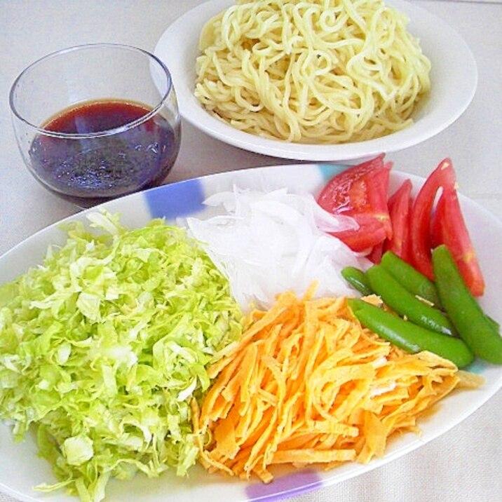 セルフつけ麺~季節の野菜たっぷり♪
