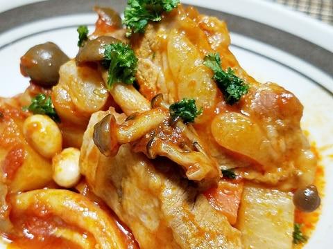 炊飯器で超柔らか♡スペアリブと大根のトマト煮込み