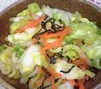 ゆず胡椒風味の白菜キャベツ和え