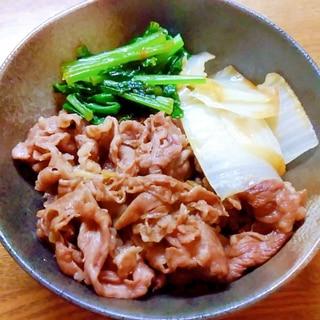 白菜と小松菜のすき煮