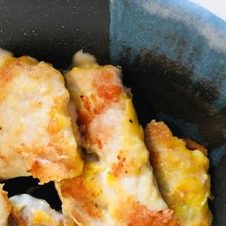 生姜焼き用肉のピカタ♪チーズ挟み