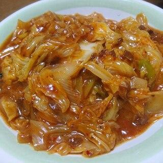 麻婆豆腐の素で、麻婆白菜
