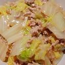豚挽き肉と白菜の炒め物