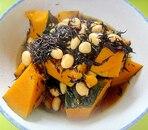 かぼちゃと大豆ひじきの煮物