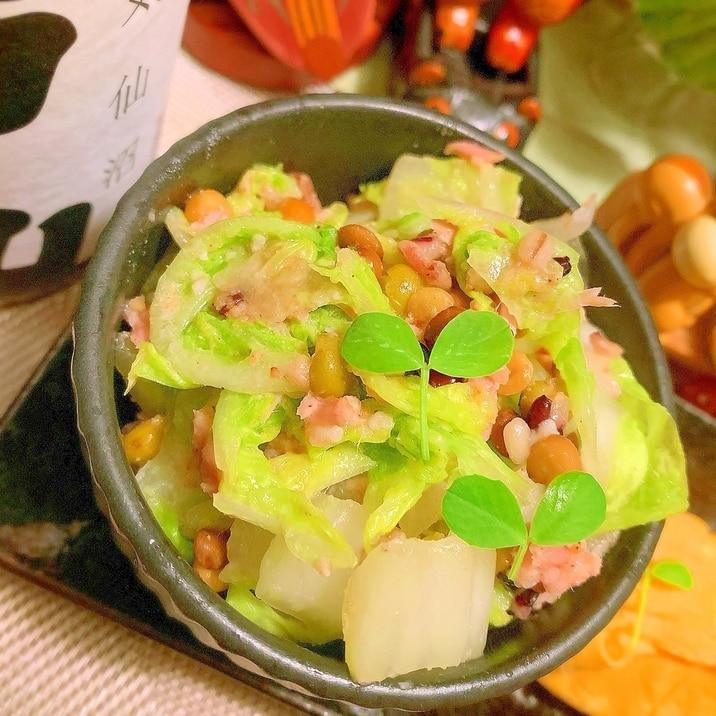 白菜とツナと雑穀のサラダ