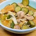 きゅうり消化レシピ☆鶏肉・厚揚げのピリ辛とろ煮