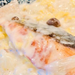 寒い時食べたくなる♡鮭と白菜のクリーム煮