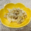 キャベツと白菜のアンチョビーガーリック炒め