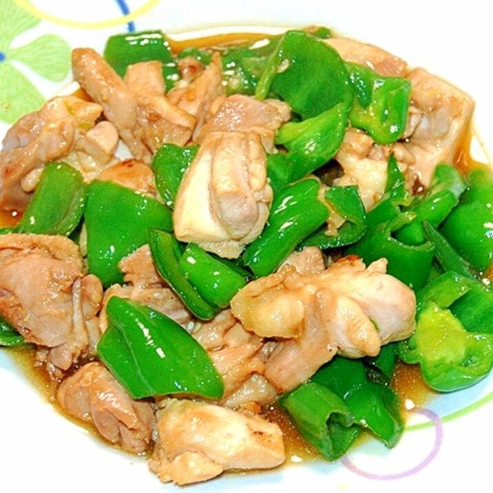 お弁当にも!鶏もも肉とピーマンの照り焼き炒め♪