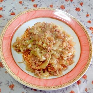 パリパリ麺☆白菜と挽肉だけの餡かけ
