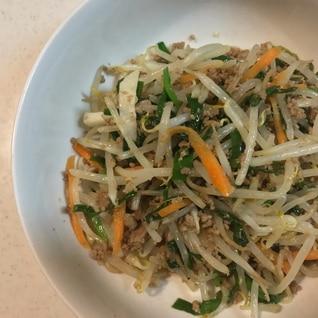 ナムル風野菜炒め、ビビンバにも