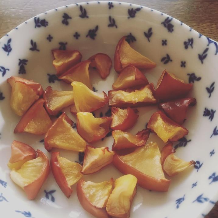 ボケてしまった林檎でドライアップル!