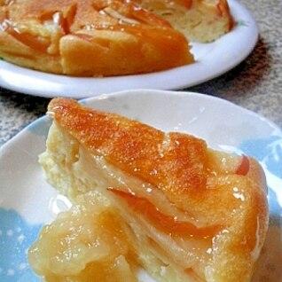 ホットケーキの素de簡単&豪華♪リンゴのケーキ風