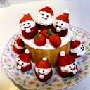 いちごサンタのクリスマスケーキ