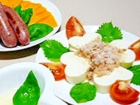 簡単で可愛い♪ハートの豆腐とトマトのラブリーサラダ