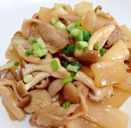 豚肉と大根のオイスターソース炒め