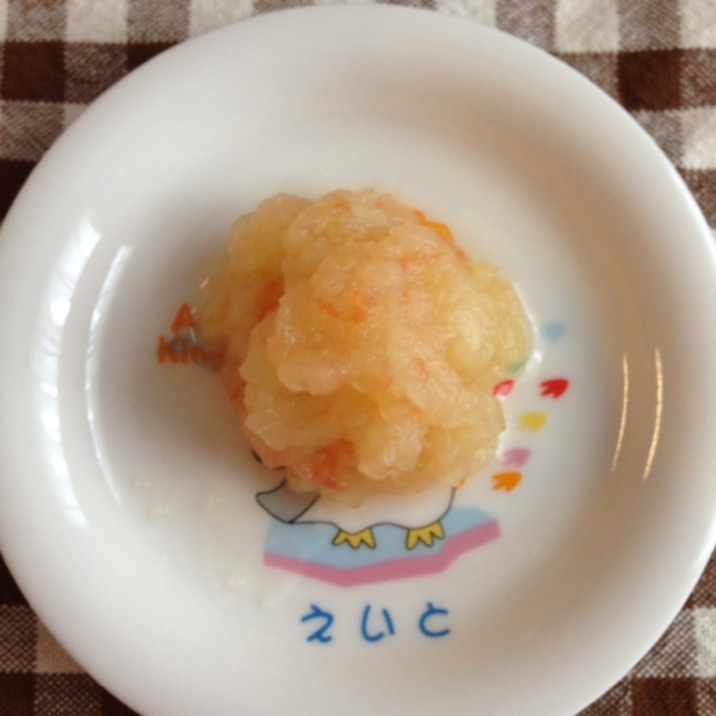 離乳食後期☆りんごトマトなすのくたくた煮
