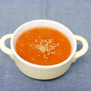すりおろし人参のスープ