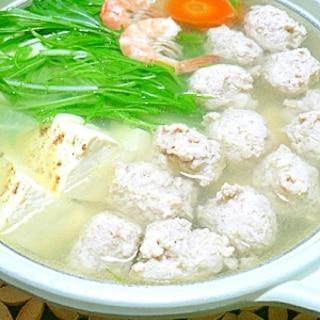 塩麹の鶏団子でスープもやっぱり塩麹鍋