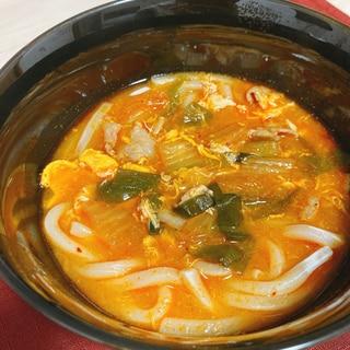 スープまで飲み干すうまさ!!チゲうどん