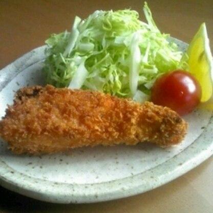 サクサク♪鮭のカレー風味ぱん粉焼き