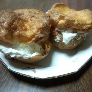 低糖質なパン ポップオーバーでシュークリーム