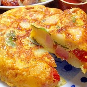 スパニッシュオムレツです☆卵と野菜の甘みがギュッ♪