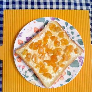 金柑のクリームチーズトースト♪