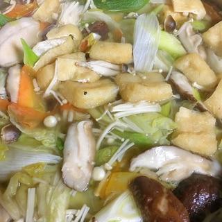 残り野菜で鍋