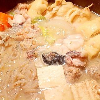 【ヘルシー鍋】鮟鱇と鶏巾着の寄せ鍋