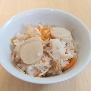 冷凍ホタテ貝柱の炊き込みご飯
