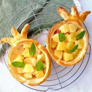 トコナツ♪冷凍パイシートでパイナップルパイ