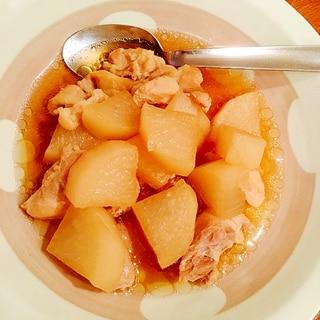 材料コレだけ☆圧力鍋使用☆大根と鶏肉の煮物