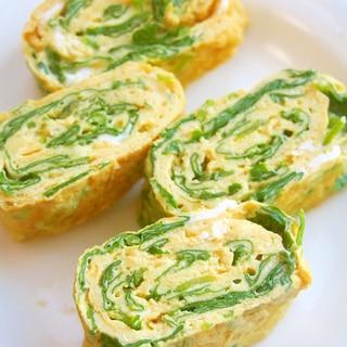小松菜入り!だし巻き卵♪栄養満点♪