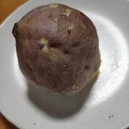おいしくできました! 安納芋で厚みがあるので3分追加、皮をパリッとさせるためトースターを最後に使用しました。