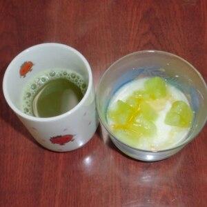 食事のお供に❤蜂蜜ジンジャー緑茶❤