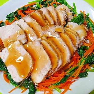 茹で野菜と一緒に♡ヘルシー煮豚