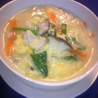 鶏むね肉のクッパ♡韓国風(=^・^=)まんま?♡