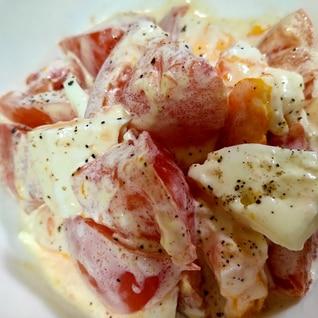 トマトとゆで卵のサラダ