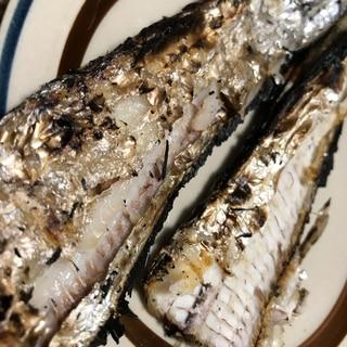 オーブンでタチウオの塩焼き