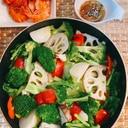 野菜の蒸し鍋  東のまるごと鍋
