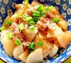 大根と長芋、豚肉の炒め煮